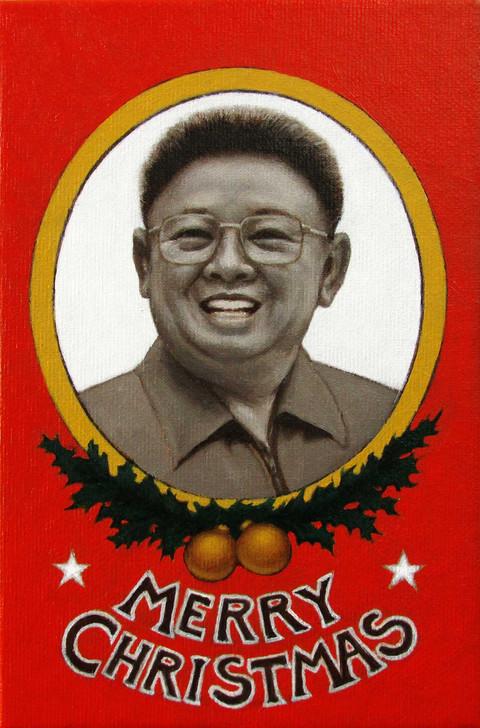 """Postais de Natal """"Merry Christmas Kim"""" óleo sobre tela 2014"""