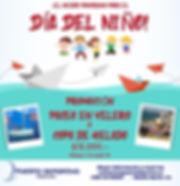 promoción día del niño 2019, velero +helado