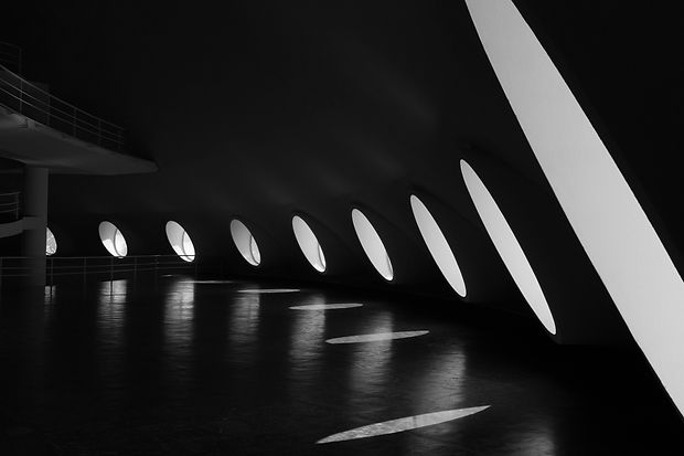 black-and-white-photography-of-building-
