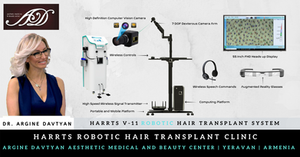 A Robotic Hair Transplant System enhanced with Artificial Intelligence Camera and Augmented Reality