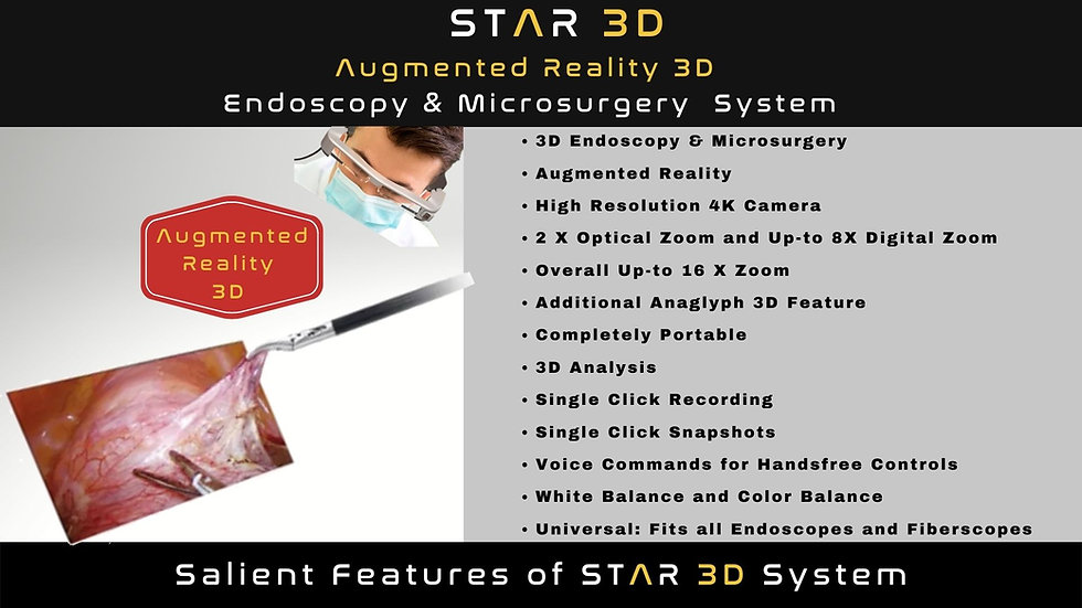 STAR 3D Endoscopy & Microsurgery System Salient Feature