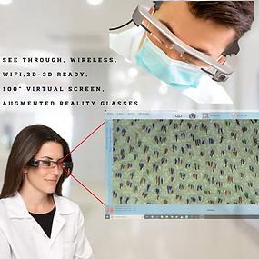 HARRTS See Through, Wireless, Wifi, 2D-3D Ready AR Galsses