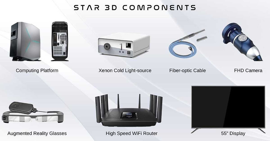 STAR 3D Endoscopy System Components