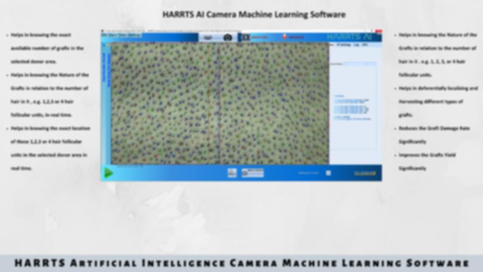 HARRTS Robotic Hair Transplant System - AI Camera Machine Learning Softwa