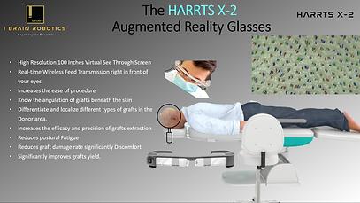 HARRTS X-2 Robotic Hair Transplant System AR Glasses