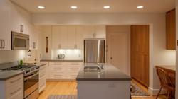 White Shaker and Cherry Kitchen