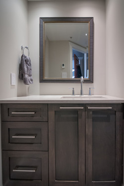 Stained Maple Shaker Vanity