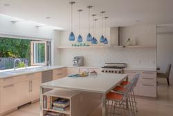 Custom Stained Veneer Kitchen