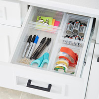 Office desk drawer with dividers