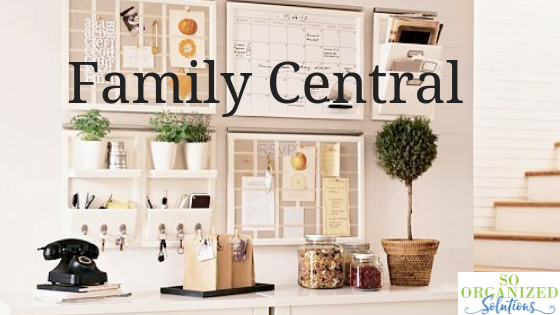 Organized Space for Family Calendar, Paperwork, Appointments and Keys