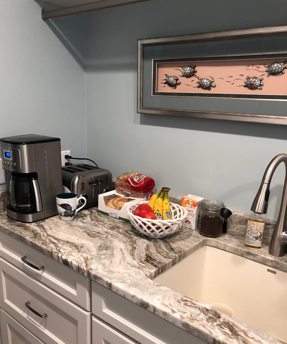 Mini kitchen in a laundry room