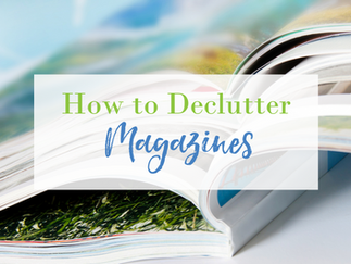 How to Declutter Magazines
