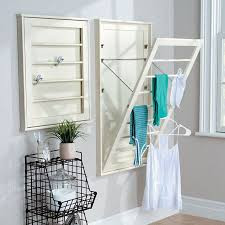 Laundry room with drying racks