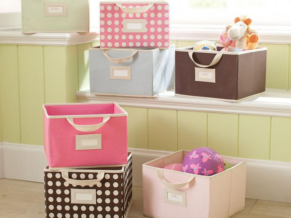 Fabric Bins for toy storage