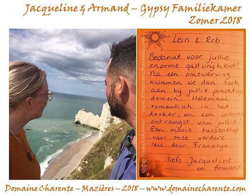 Gastenboek 2018 - Jacqueline & Armand -