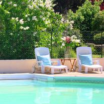 Het zwembad van Domaine Charente