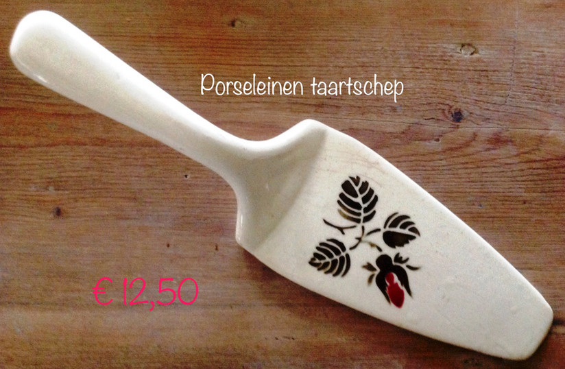 Oud Franse porseleinen taartschep