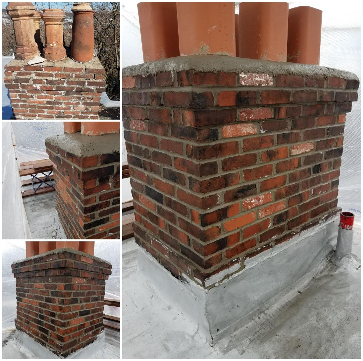 Rebuilt Chimney,New Cap,New Liners