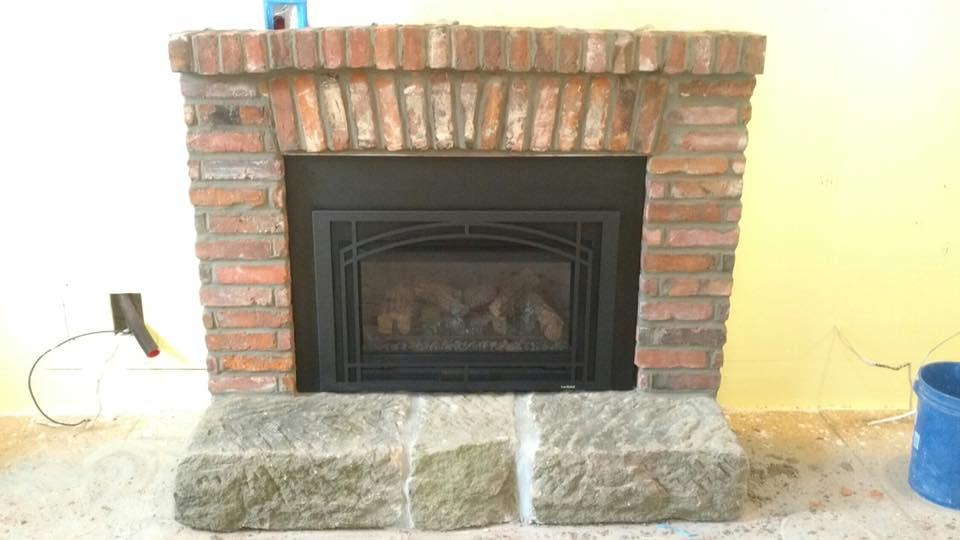 fireplace mason work