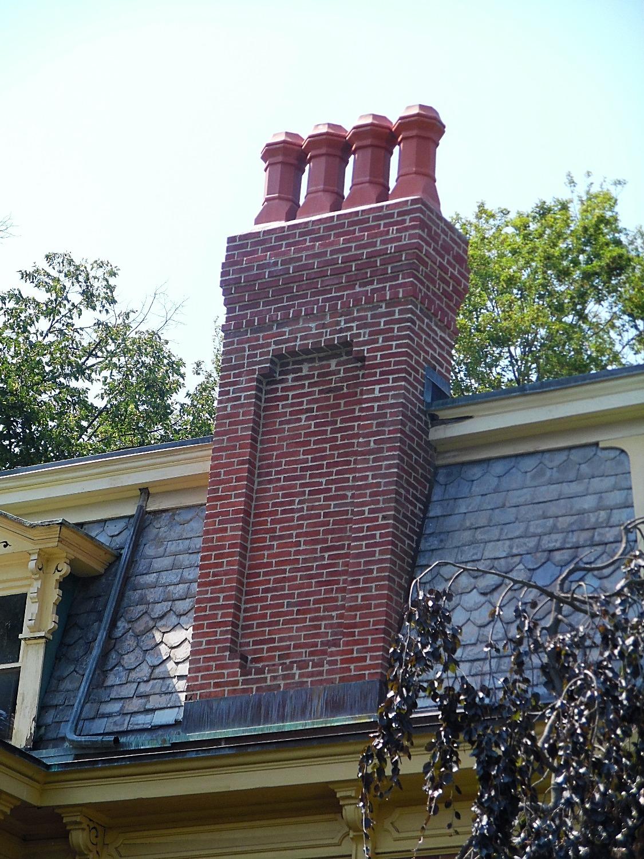 mason built chimney
