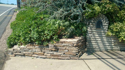 mason built retaining wall