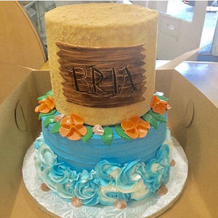 🌴Moana Themed Cake!🌴 Done By Us Here A