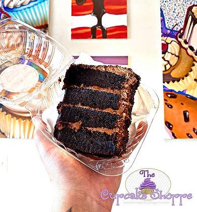Nana's Fudgey Cake Slice