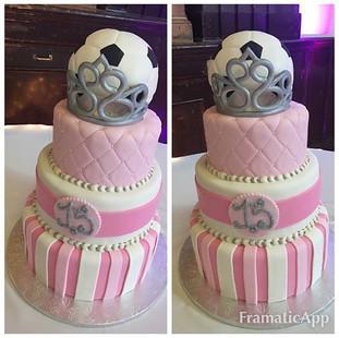 SOCCER BALL QUINCE CAKE!_#hayward #bayar