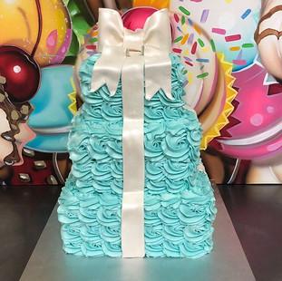 3 TIER TIFFANY INSPIRED CAKE 💙_#bayarea