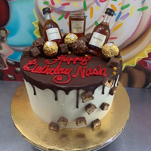 Hennessy, chocolate, and Cake. What coul
