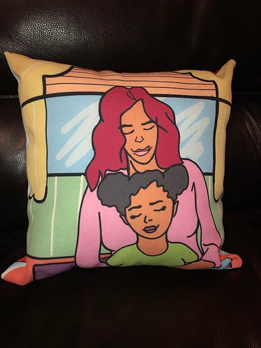 """My Mom Is A Super Hero""! Comfy sleeping and lounge pillow"