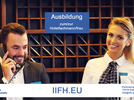 Hotel Specialist / Manager Vocational Education in Germany