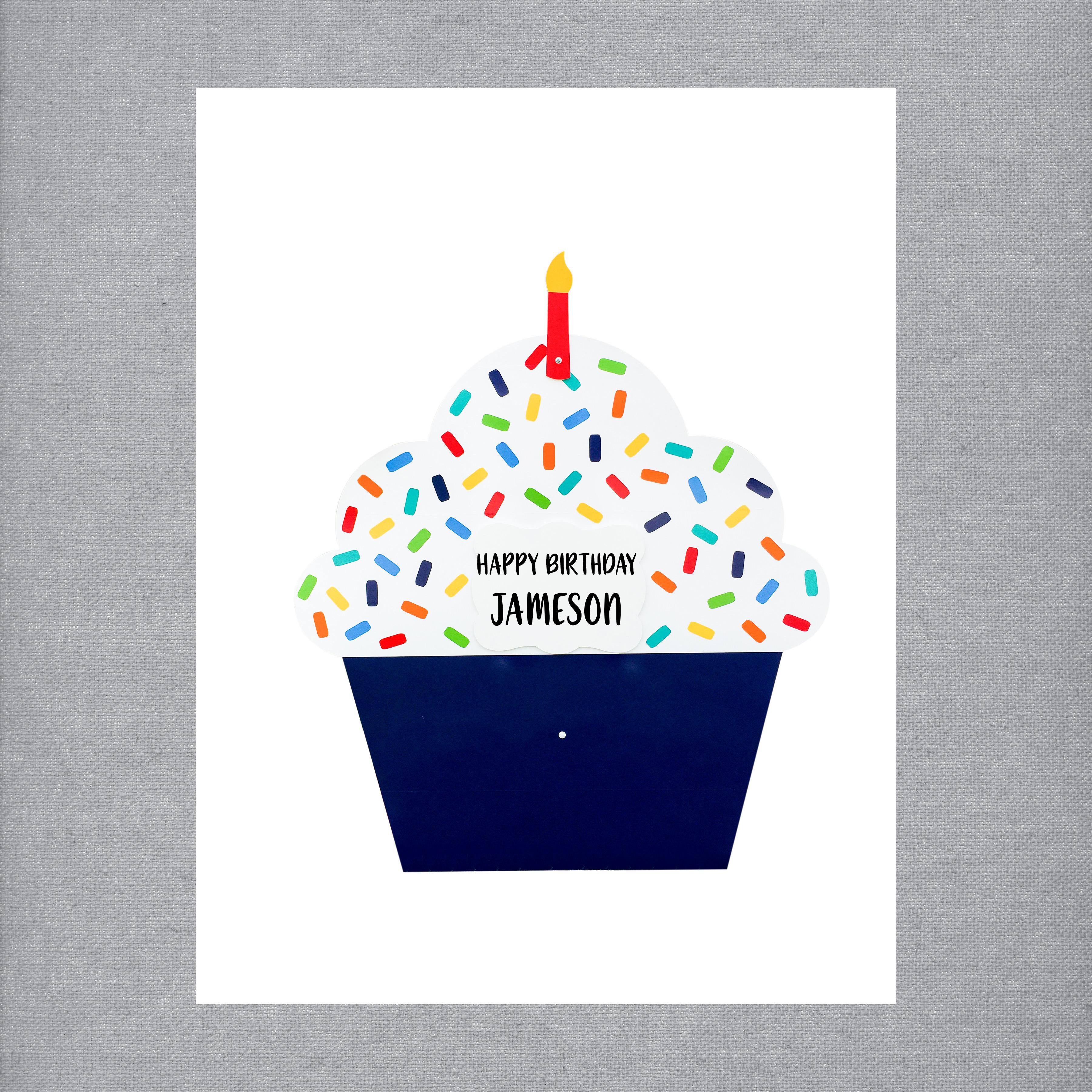 Navy Cupcake