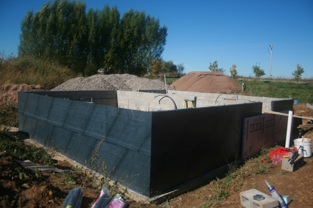 Water Barrier on Foundation