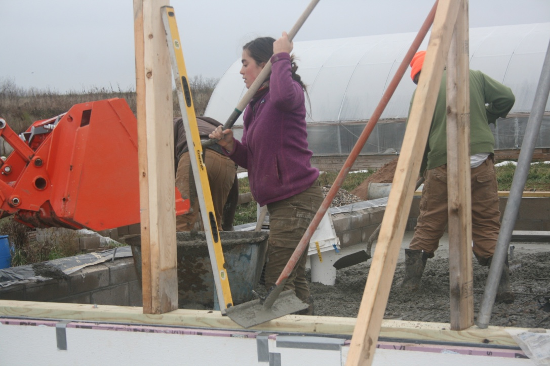 Shay Shoveling Concrete