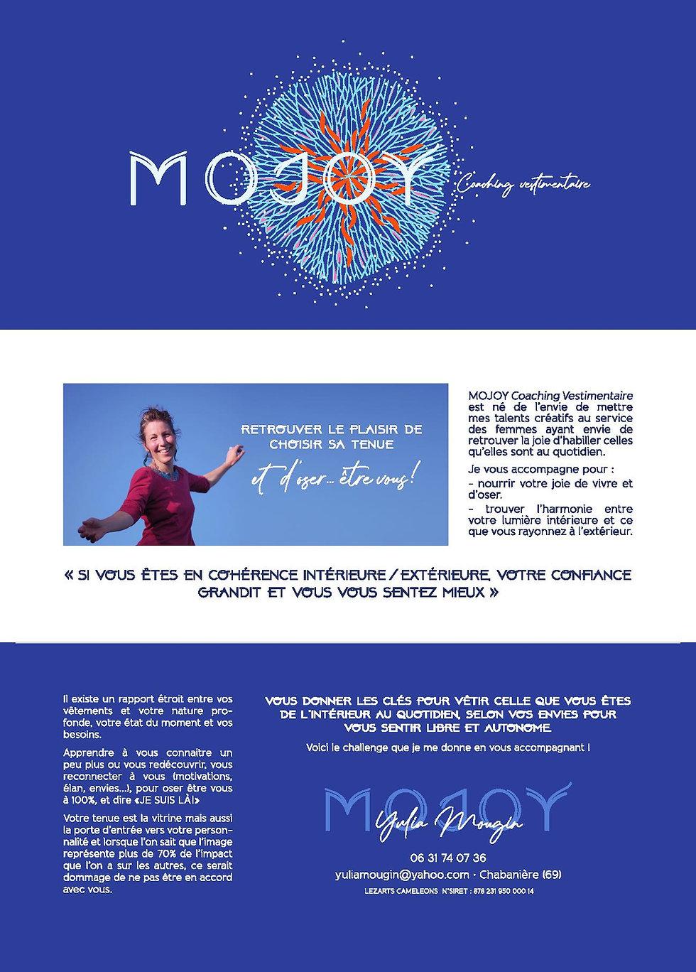 Brochure 2 Mojoy A4 3 volets 5mm fond pe