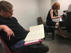 Aron Kallay and student Kara Piatt