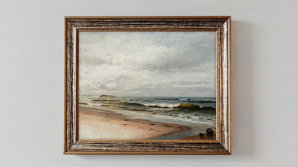Seaside Oil Painting Fine Art Print