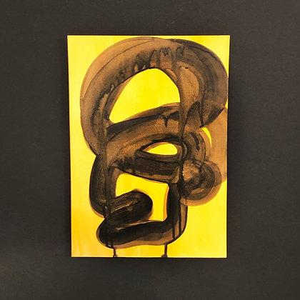 Rasmus Højfeldt . No Title VII . 30 x 21 . Painting .