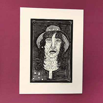 Mette Nissen Johansen . Patti Smith . 42 x 30 . Woodcut