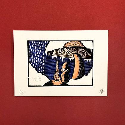 Alexander Wilstrup . no title . 21 x 30 . Linocut