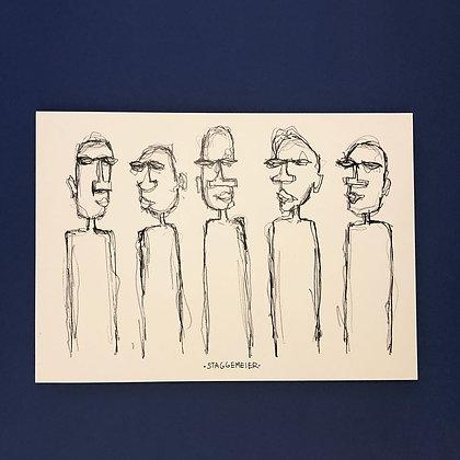 Emil Staggemeier . Busy People . 40 x 32 . Print .