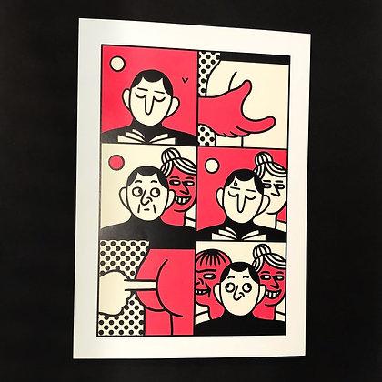 Simon Landrein . Fuite . 42 x 30 . Digital print