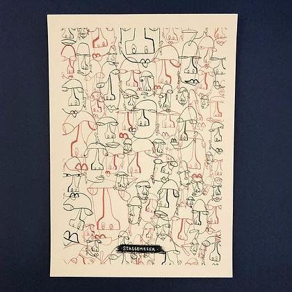 Emil Staggemeier . Expressions . 42 x 30 . Print .