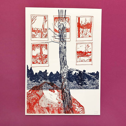 "emil underbjerg . ""sweden"" . 42 x 30 . riso print"