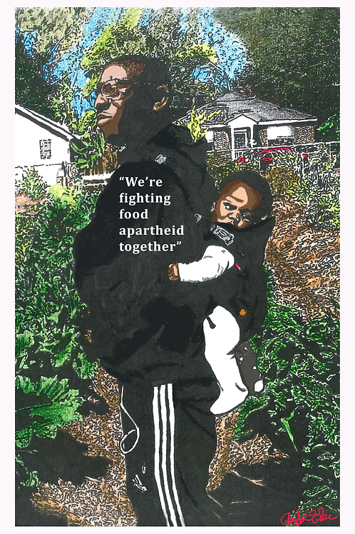 "Food Apartheid Poster 11"" X 17"""