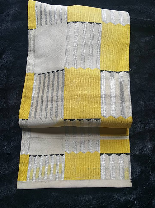 Silver & Yellow Obi