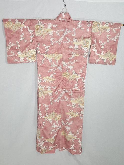 Pink & Yellow Japanese Kimono