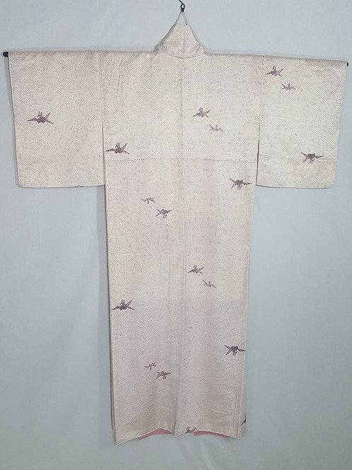 Off White & Purple Kimono