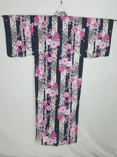 Pink, Black, & White Yukata
